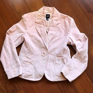 GAP Pink Velour Blazer